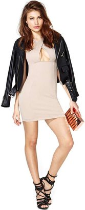 Nasty Gal Twisted Love Dress - Nude