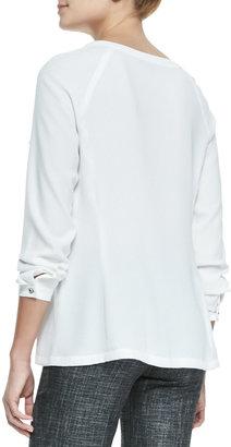 Nanette Lepore Fairytale Ruffled Long-Sleeve Top