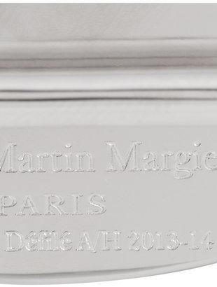 Maison Martin Margiela Rhodium-plated labradorite ring