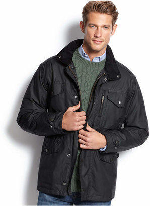 Barbour Sapper Waxed Jacket $429 thestylecure.com