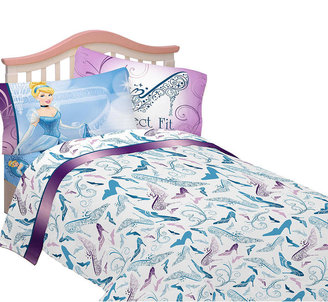 Franco Mfg Disney's Cinderella Perfect Fit Twin Sheet Set