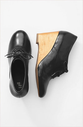 J. Jill Wooden-heel wedge oxfords