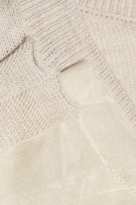 Lanvin Silk organza-trimmed wool top