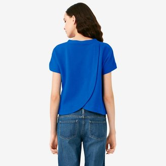 Kate Spade Saturday Sexy Back Sweatshirt in Pique French Terry