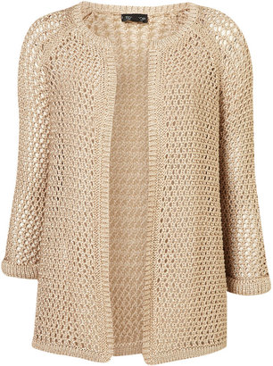 Topshop Knitted Wetlook Chuck On Cardi