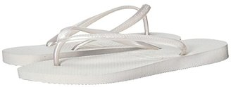 Havaianas Slim Flip Flops (White) Women's Sandals