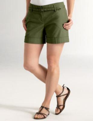 Ann Taylor Loft Stretch Panama Belted Shorts