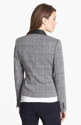 Anne Klein Glen Plaid Ponte Blazer