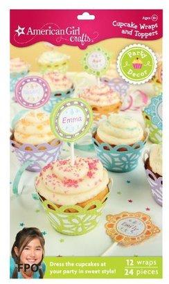 EK Success Brands American Girl Cupcake Wraps And Picks