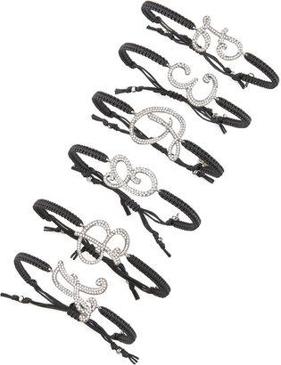 Tai Pave Initial Bracelet, Black