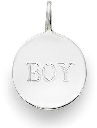 Sarah Chloe Sterling Silver Engraved Add On Boy Charm