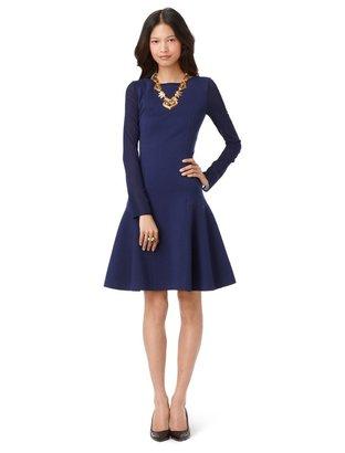 Oscar de la Renta Long Sleeve Jewel Neck Dress