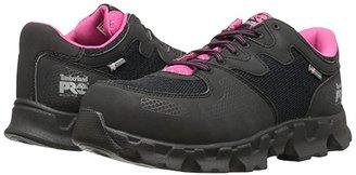 Timberland Powertrain Alloy Toe ESD (Black/Pink) Women's Work Boots