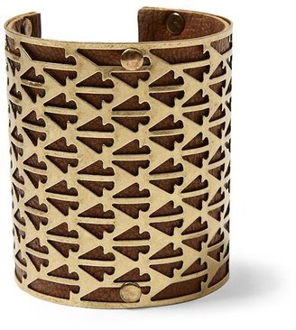 Juicy Couture Hive & Honey Arrow Cut-Out Leather Cuff