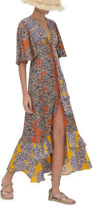 Alexis Rajana Tie-Front Maxi Dress