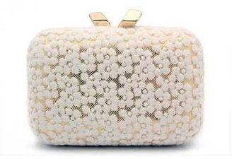 """Kotur Margo"""" White Floral Lace Clutch"""