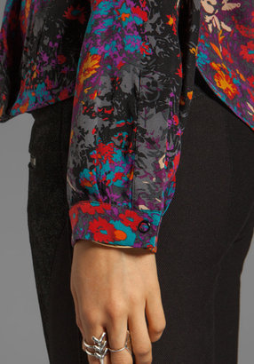Tracy Reese Small Floral Surplice Blouse