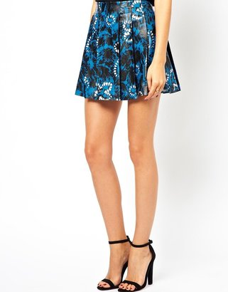 Asos Exclusive Leather Skater Skirt