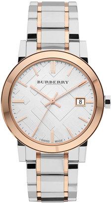 Burberry Watch, Women's Swiss Two Tone Stainless Steel Bracelet 38mm BU9006 $595 thestylecure.com
