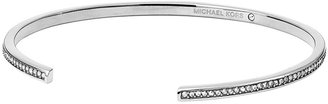 Michael Kors Pave Open Cuff, Silver Color
