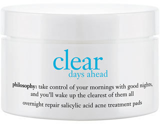 Philosophy 'Clear Days Ahead Overnight Repair' Acne Treatment Pads $42 thestylecure.com