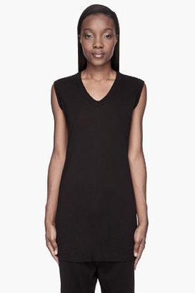 Rick Owens Black V-Neck Sleeveless t-shirt