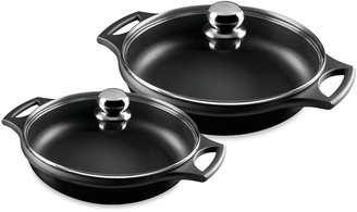 Fundix by Castey 5.5 Quart Cast Aluminum Sauteuse Pan in Black With Lid