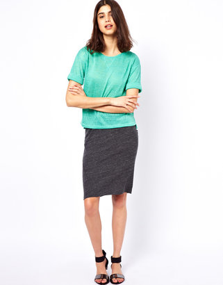 American Vintage Body-Conscious Skirt in Jersey
