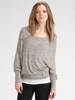 Vince Slubbed Linen Top