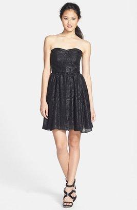 GUESS Burnout Chiffon Fit & Flare Dress