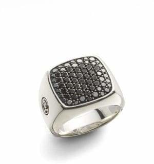 David Yurman Diamond Signet Ring