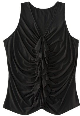 Mossimo Womens Plus-Size Sleeveless Ruffled Fashion Top - Assorted Colors