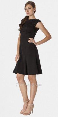 JS Boutique Black Embellished Cap Sleeve Cocktail Dresses