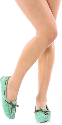 *Sole Boutique The Au Natural Shoe in Green Suede