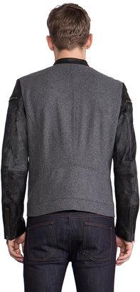Diesel Baselt Moto Jacket w/Leather Sleeves