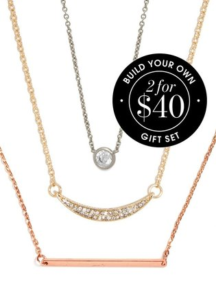 BaubleBar Layered Delicate Pendants