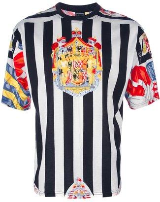 Versace Vintage striped flag t-shirt