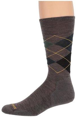 Smartwool Diamond Jim (Deep Navy Heather/Desert Sand Heather) Men's Crew Cut Socks Shoes