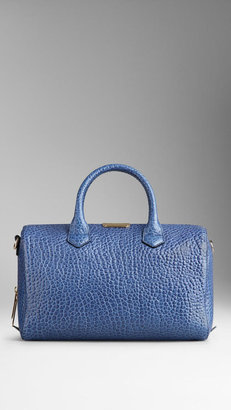 Burberry Medium Signature Grain Vintage Leather Bowling Bag