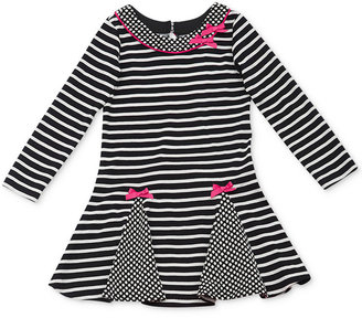 Rare Editions Little Girls' Striped Bow Dress