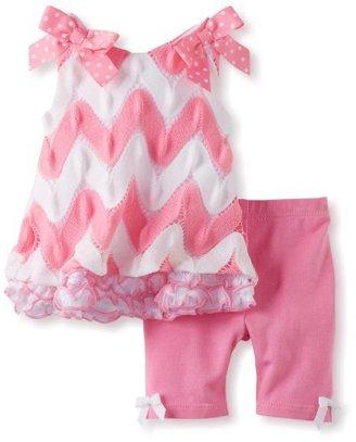 Bonnie Baby Girls Newborn Flamestitch Legging Set