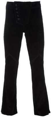 Lost Art Suede flare pants
