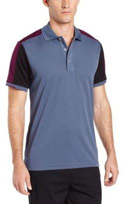 PGA TOUR Men's Short Sleeve Structure Block Polo Shirt