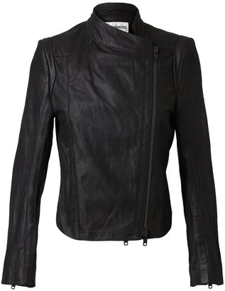 Ann Demeulemeester distressed leather Jacket