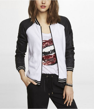 Express Perforated (Minus The) Leather Bomber