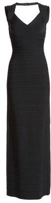 Herve Leger V-Neck Bandage Gown