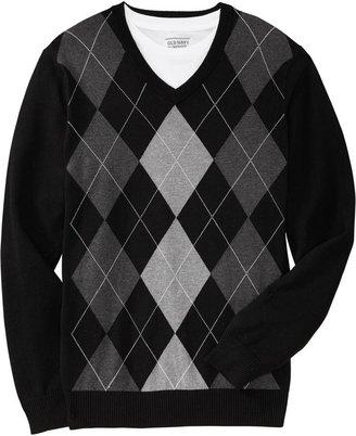 Old Navy Men's V-Neck Argyle Sweaters