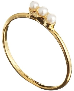 Asos Limited Edition Faux Pearl Bar Fine Ring