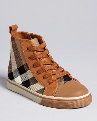Burberry Boys' Tom High Top Check Sneakers - Sizes 10-12 Toddler; 13, 1-4.5 Child