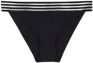 Emma Pake Adriana Black Striped Bikini Briefs